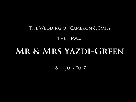 The Wedding of Mr & Mrs Yazdi-Green