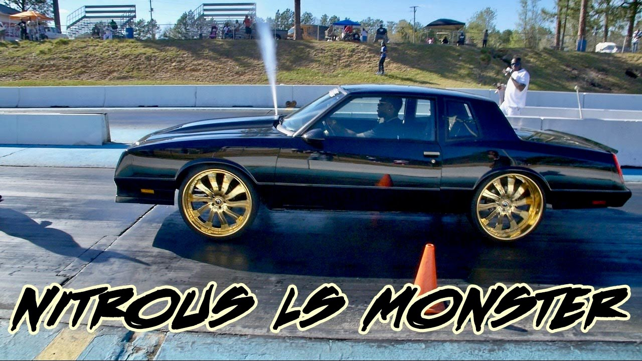 NITROUS MONTE CARLO SS LS POWERED BEAST ON 24 INCH GOLD