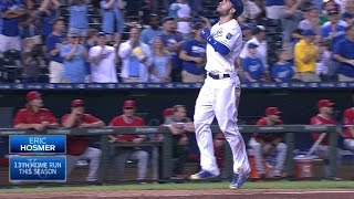 LAA@KC: Hosmer clubs a homer to draw Royals closer
