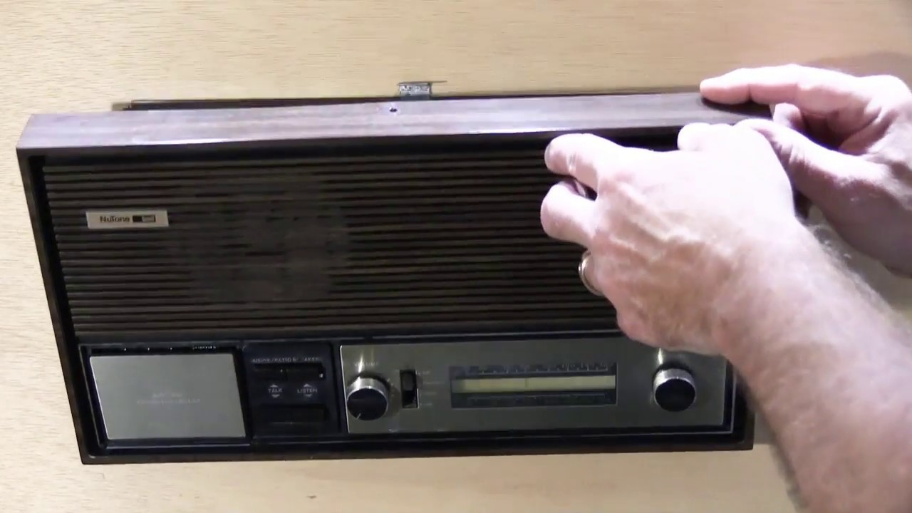 How To Remove A Nutone Im303 Ima303 Radio Intercom Master Station Youtube