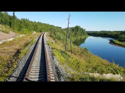 Дорога в Усинск|Вид из кабины машиниста