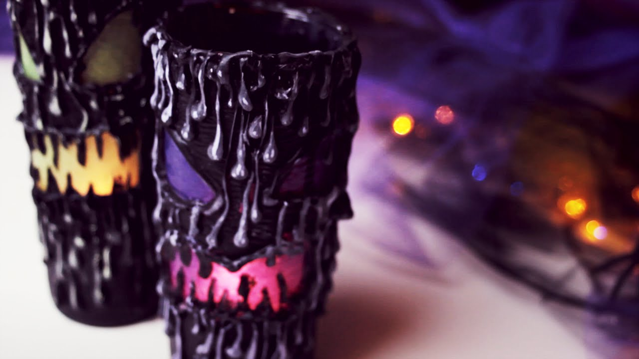 diy scary halloween lantern home decor youtube - How To Make Halloween Lanterns