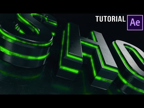 After Effects Tutorial | Dubstep :  Element 3D Logo Reveal