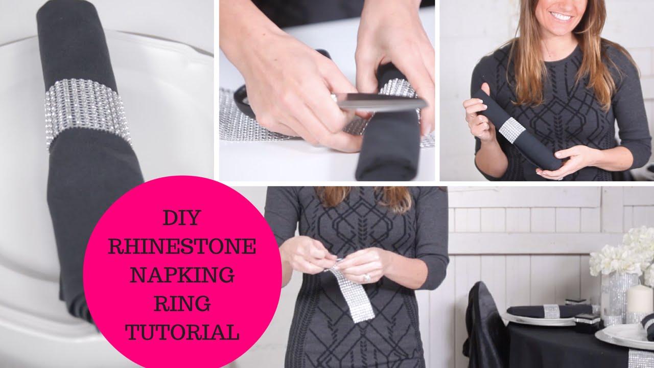 Diy napkin ring tutorial wedding decoration ideas youtube junglespirit Images