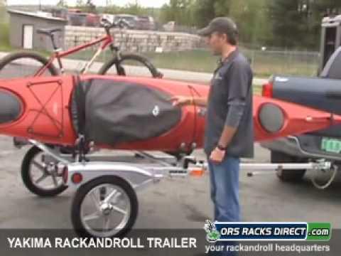 Yakima Rackandroll Trailer Bike Luggage Canoe Kayak Trailer