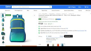American Tourister AMT DASH SCH BAG 01 -TEAL 19.5 L bagpack (blue) review and unboxing
