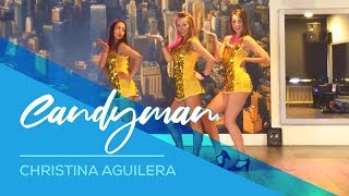 Candyman - Christina Aguilera - Easy Show Dance Fitness Choreography  - Fun - showdance