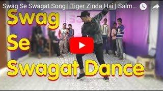 Swag Se Swagat Dance Choreography|TigerZinda Hai|Salman Khan Kaitrina Kaifance on swag se swagat
