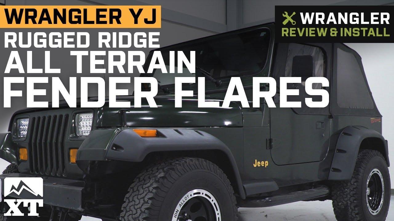 Jeep Wrangler YJ Rugged Ridge All Terrain Fender Flares (1987-1995) Review  & Install
