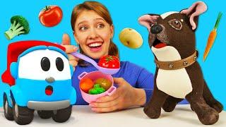 Грузовичок Лева и собачка Шоколадка готовят суп! Как мама - видео для девочек про игрушки
