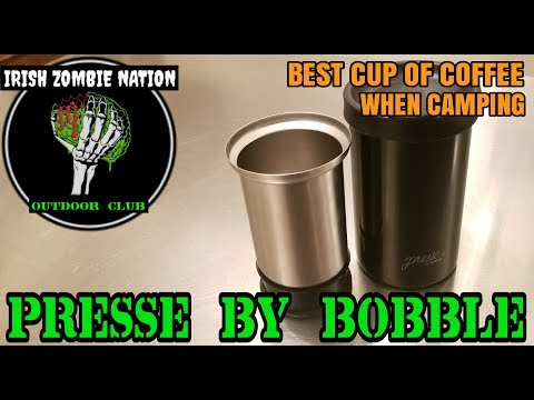 Camp Coffee Done Right! Presse by Bobble – French Press Java Tumbler for Camping or Everyday Use