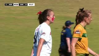2018 WU24UC - Australia vs Canada - Womens Pool Play Day 4 - Reupload