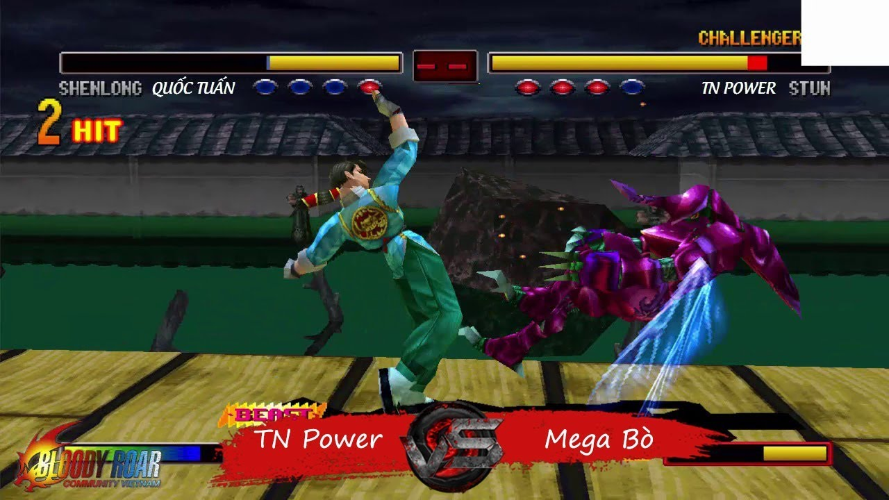 Bloody Roar 2 Online: Quốc Tuấn [Shenlong] vs TN Power [Stun] - ACP Match