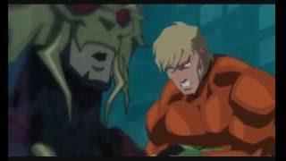 La liga de la justicia - El trono de Atlantis (Aquaman vs. Orm)