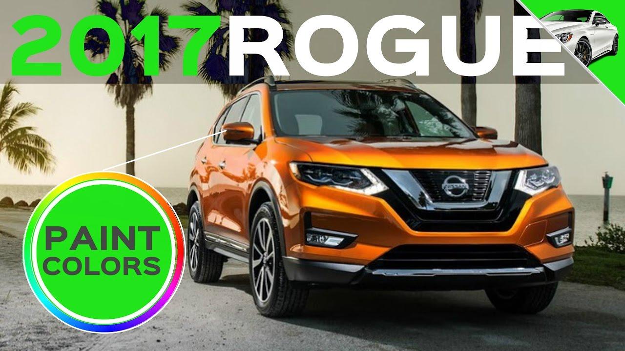 Nissan Rogue Colors >> 2017 Nissan Rogue Colors