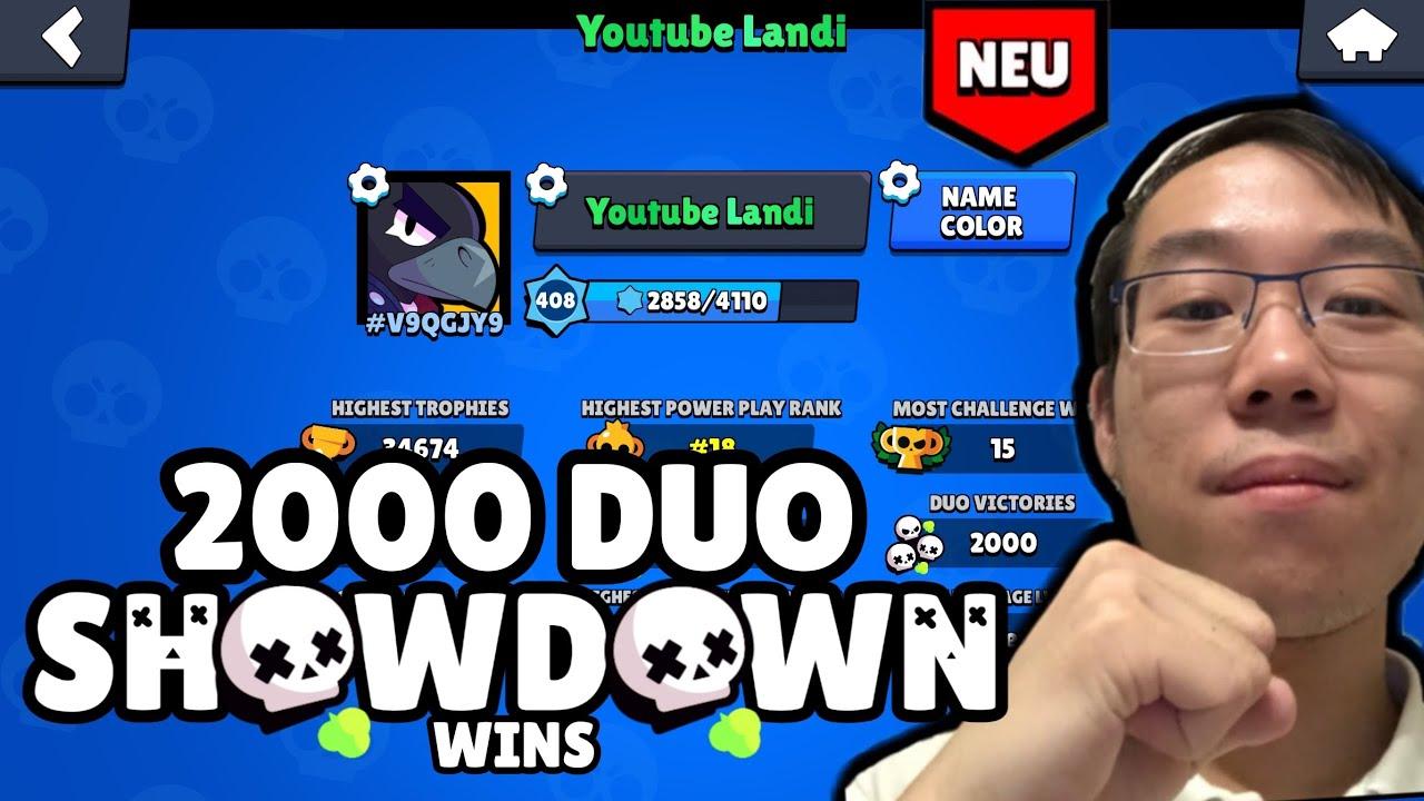 *OMG ICH ERREICHE 2000 DUO SHOWDOWNN WINS! 😱  Brawl Stars deutsch