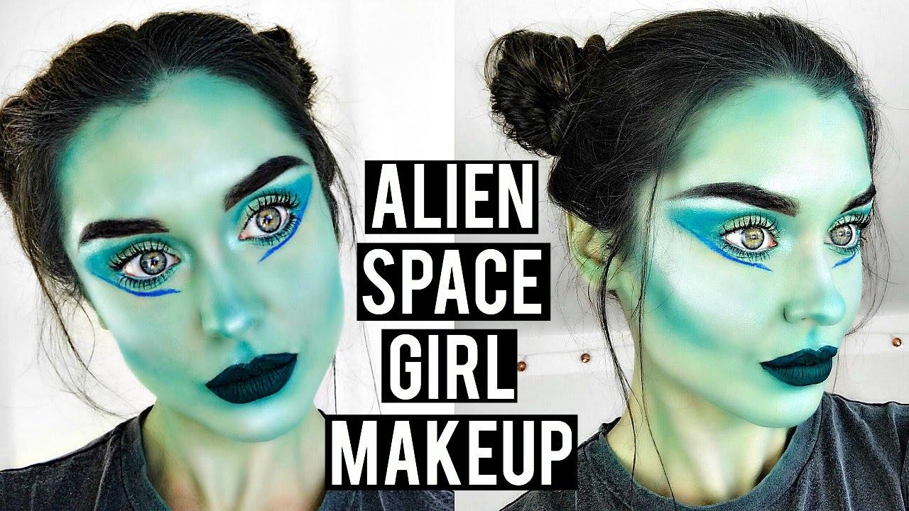 Alien makeup tutorial gallery any tutorial examples alien space girl halloween makeup tutorial cute easy alien space girl halloween makeup tutorial cute easy baditri Image collections