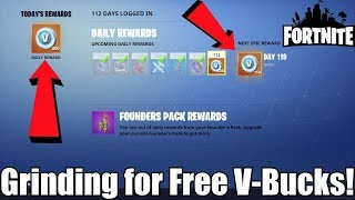 Grinding for FREE V-BUCKS in Fortnite Save the World! | Daily Missions, Plankerton & More!