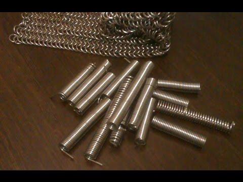 Изготовление колец для кольчуги. Накрутка проволоки