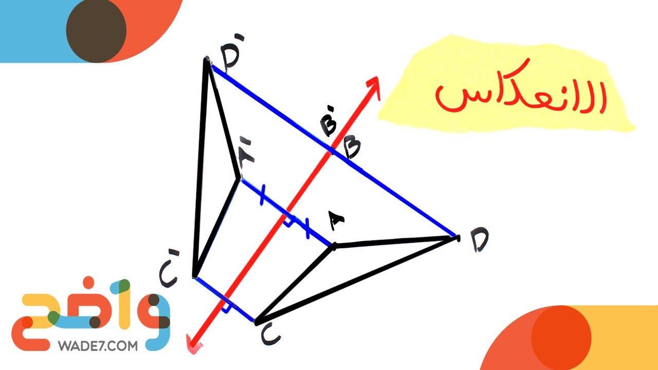 الانعكاس رياضيات أول ثانوي الفصل الثاني Youtube