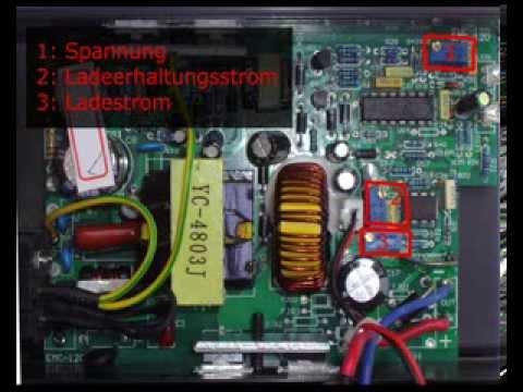 E-Bike-Ladegerät für LiFePO4-Akkus einstellen (Spannung, Strom ...