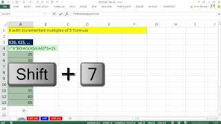Excel Magische Truc 1184: Formule te Maken alfanumerieke Reeks X20, X25, X39...