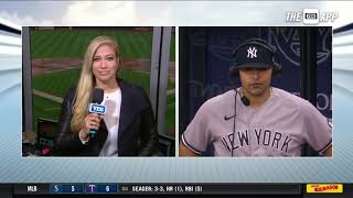 Rougned Odor Talks With Meredith Marakovits To Discuss His Yankees Debut On Sunday