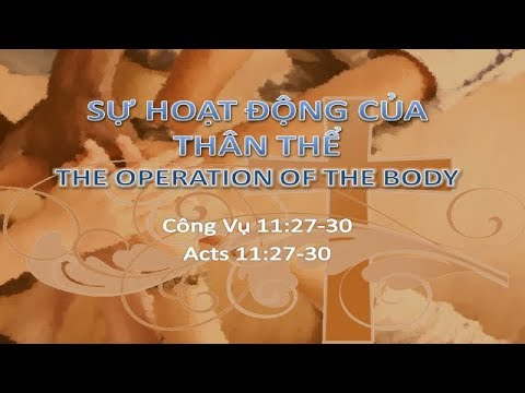 Acts 11:27-30 The Operation Of The Body Life