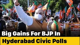BJP Surge In Hyderabad Local Polls Ruins KCR's Victory Party