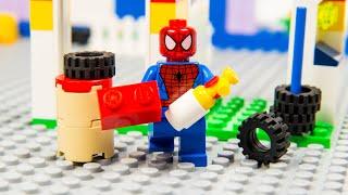 Lego Spiderman Brick Building Garage Superhero Animation Cartoon For Kids