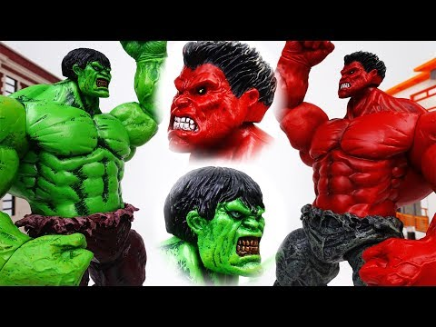 Scary Red Hulk Escaped~! Red Hulk VS. Incredible Hulk - ToyMart TV
