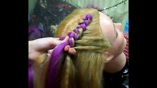 Плетение кос с канекалоном без резинок