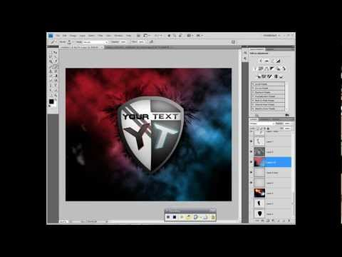 Black & Metal Gaming Logo / Photoshop Tutorijal + PSD /... | Doovi