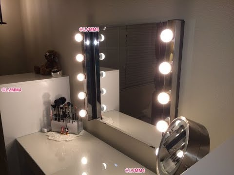 Dressing Table Mirror With Lights Ikea Youtube