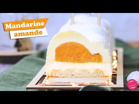 🍊-bÛche-de-noËl-mandarine,-amande-et-vanille-🍊