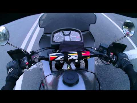 Ride motorcycle in Moscow. Transalp XL600. Liquid image
