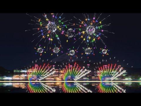 FWsim Mount Fuji Synchronized Fireworks Show3