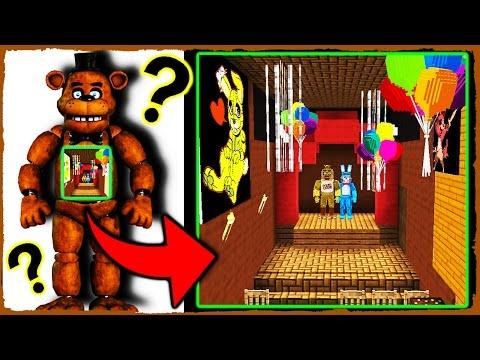 Minecraft FNAF - What's Inside FREDDY FAZBEAR?!