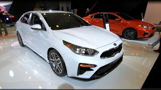 KIA FORTE EX SEDAN ALL NEW MODEL 2019 RED + WHITE COLOUR WALKAROUND + INTERIOR