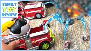 Paw Patrol Toys Jungle Rescue - Marshall's Jungle Fire Truck - Fast Lane Mega Loop Speedway Playset