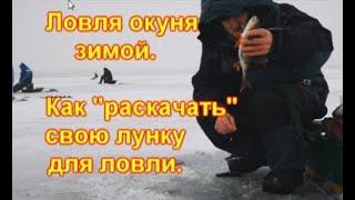 Ловля окуня зимой Как раскачать свою лунку для ловли окуня