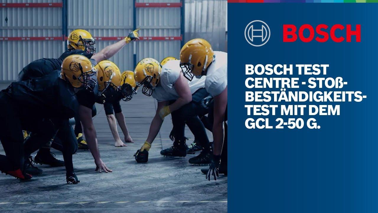 #BOSCHTESTCENTRE – Stoßbeständigkeitstest mit dem GCL 2-50 G Professional