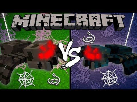 Spider vs. Cave Spider - Minecraft