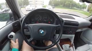 BMW e34 540i 6 speed manual POV driving and walkaround!