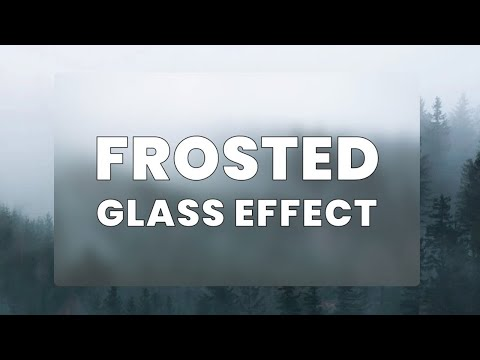 CSS Frosted Glass Effect | CSS Blurred Glass Effect