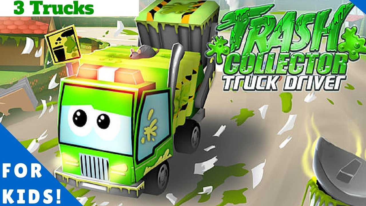 Garbage Truck Recycling - Drive The Trucks! l For Kids ...