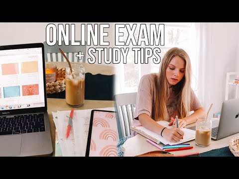 ONLINE EXAM + STUDY TIPS // study with me for online classes