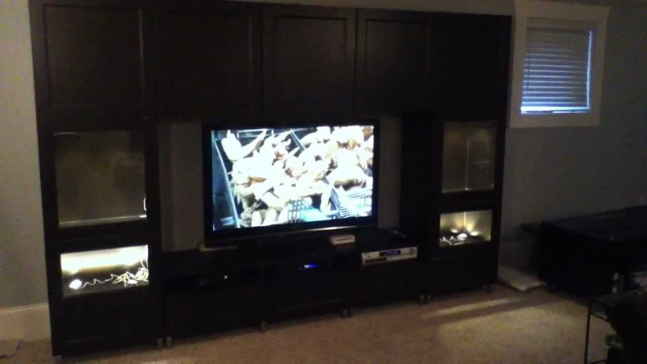 Ikea Besta Large Entertainment Center Project And Embly Tips You