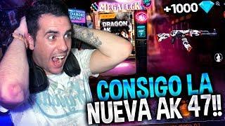 CONSIGO LA NUEVA AK 47 LEGENDARIA en FREE FIRE!!! | Rubinho vlc