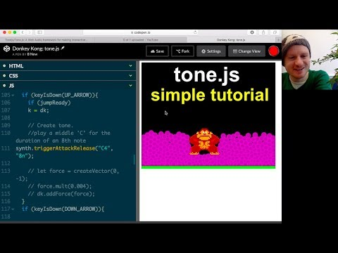 Javascript Tutorial: tone.js for synth sound